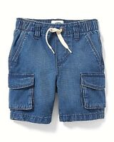 Clearance Sale School Old Navy Cargo Denim Pull-On Shorts for Toddler Boys!