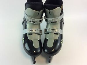 Roces Silver And Black Ice Skates J DUE Made In Italy UK Size Six 6 (Auction)