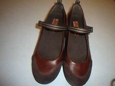 Womens SKECHERS Flamenco JukeBox Brown Leather Mary Jane Shoes. Sz 8M~CLEAN