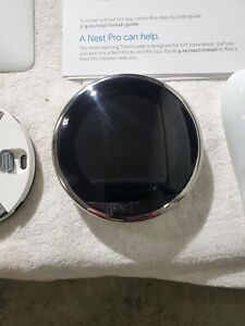 Nest T3019US Nest Learning Thermostat, Polished Steel. Scratch on face.