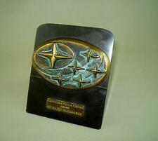 Subaru Bulgaria Dealership Auto Award, Stone & Bronze Plastic Art Desk Ornament