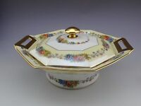 RARE Theodore Haviland Limoges Azay Le Rideau Covered Vegetable / Casserole Bow