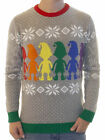 Ugly Christmas Party Sweater Unisex Men's Gay Pride Elves of Love