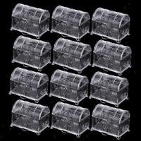 MagiDeal 12pcs/Set Plastic Treasure Chest Wedding Candy Jewelry Box Clear