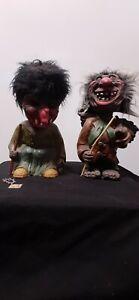 HEICO Nodder Bobblehead Troll Couple Original western germany 1960's (set of 2)