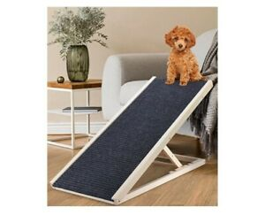 SEAAN Good Couch Access Adjustable Wooden Ramp for Dogs and Cats Up to 110 lbs.