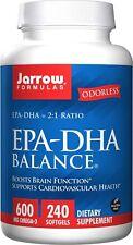 Jarrow Formulas EPA-DHA Balance 600 mg 240 Sgls Exp 09/19 Brain Function