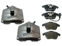 FOR SEAT LEON FROM 2005 FRONT BRAKE CALIPERS PAIR + BRAKE PADS & FREE LUBRICANT
