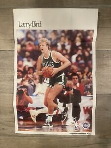 1987 SPORTS ILLUSTRATED LARRY BIRD 11x17 COLOR POSTER GREAT SHAPE BOSTON CELTICS