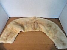 Vintage Light Colored Fur Stole Collar