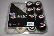 NEW Licensed NFL Kansas City Chiefs Football Billiard Pool Cue Ball Half Set