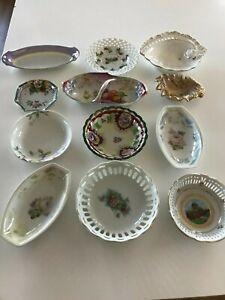 Vintage/Antique Small Decorative Floral Bowls/ Dishes Lot Of 12 - SUPER CUTE