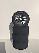 1/8 Buggy FOAM Tires Glued 17mm (BKS)