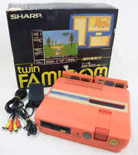 TWIN FAMICOM Console System Boxed AN-505RD Red Tested New Rubber Belt Ref/327511