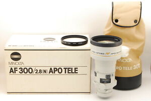 Almost Mint Minolta AF APO TELE 300mm F/2.8 N HG HIGH SPEED Lens From Japan