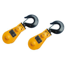 """2 PCS - 2T 3"""" Snatch Block with Hook -SPECIAL PRICE"""
