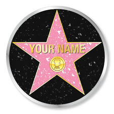PERSONALISED HOLLYWOOD STAR WALK Chunky Clear Plastic 85mm Coaster. GREAT GIFT