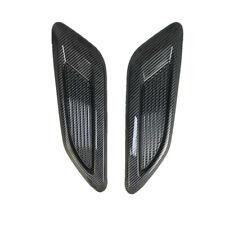 2Pcs Car Decorative Air Flow Intake Hood Scoop Vent Bonnet Base Cover 33x9.5cm