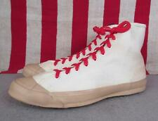 Vintage 1940s Ball Band Canvas Basketball Sneakers Tan Rubber Gym Shoes Sz.7