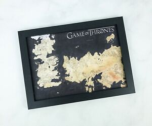 Geek Gear Exclusive Game Of Thrones Framed Print Map of Westeros and Essos