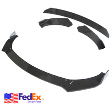 3Pcs Car Front Bumper Lip Chin Winglet Splitter Body Kit Carbon Fiber Style Usa (Fits: Volvo)