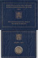 Vaticano 2014 Cartera Oficial Moneda 2 ? euros Conmemorativos Caida del muro de