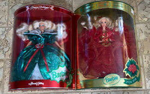 Happy Holidays 1993 & 1995 Happy Holidays Barbie Dolls Lot Of 2 Special Editions