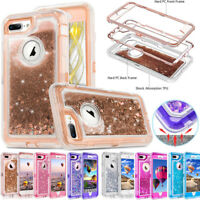 Quicksand Glitter Dynamic Clear Liquid Rugged Hard Case Cover For iPhone 11 XR 8
