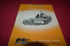 Ferguson Tractor Disc Harrow Dealer's Brochure AMIL15
