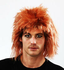GINGER Shaggy Parrucca Jon Bon Jovi STILE FANCY DRESS Stag Do Rocker confuso CAPELLI