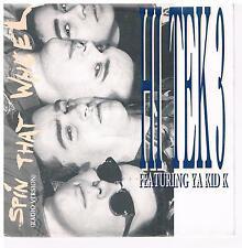 """HI TEK 3 feat. Ya Kid K-SPIN the wheel/7"""" single di 1990 + PROMO info supplemento"""