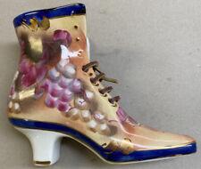 Limoges Decorative Victorian Style Floral Shoe/Boot Hand Painted Porcelain