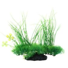 Acuario emulational plastico verde Planta decoracion largo hoja 20cm M9K5