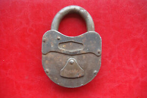 Antique Padlock Without Working Key Unique Made in Russia Collector Rare