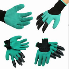 Hot 4ABS Plastic Claw Gardening gloves for Digging &Planting with Garden Glove