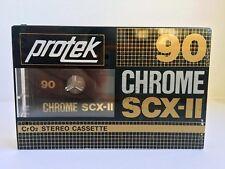 PROTEK CHROME SCX-II 90 BLANK AUDIO CASSETTE TAPE NEW RARE HONG KONG MADE