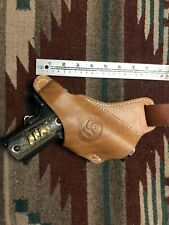 FIT Colt Remington Ruger Kimber ATI Taurus Model 1911 Cross Draw Leather Holster
