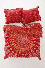 India Peacock Mandala Duvet Doona Cover Throw Boho Quilt Cover Bohemian Bedding