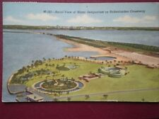 POSTCARD USA AERIAL VIEW OF MIAMI SEAQUARIUM ON RICKENBROCKER CAUSEWAY