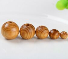 Round Burly Dark Brown Natural Wooden Beads 6mm - 20mm [BUY 3 GET 3 FREE]
