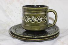 Rétro vintage 1970 s Sylvac 4142 Totem Trio Tea Cup soucoupe plate
