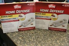 2 BOXS Ortho Home Defense Roach Bait 16 Stations ~ New