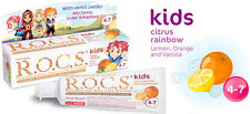 ROCS R.O.C.S Kids Citrus Rainbow Gel Toothpaste Age 4-7 45ml 1.6 fl oz