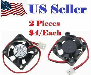 2PCs Gdstime 5 Blades 3010 30x30x10mm 3cm 30mm 12v Brushless Dc Cooling Fan