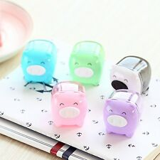 Mini Cute Cartoon Pig Pencil Sharpener For Student Kids Gifts Office Stationery