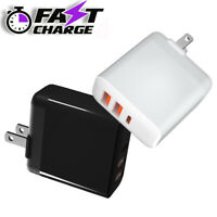 3 Port USB+Type C Wall Fast Charger QC 3.0 for Cell Phone iPhone Samsung Android