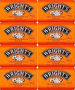 Wrights Traditional Coal Tar Soap 125g Bars X12
