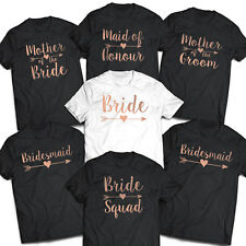 Hen Party Tops Hen Do Bride To Be Tribe T-shirts Custom Personalised - Rose Gold