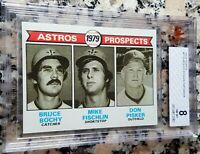 BRUCE BOCHY 1979 Topps Rookie Card RC BGS BVG 8 2010 2012 2014 SF Giants Champs