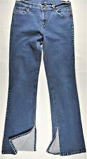 DKNY Donna Karan Womens Jeans Sz 11 30x31 Blue Indigo Cotton Slit-Hem Stretch